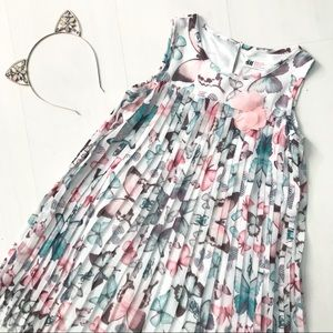 H&M   Butterfly Pleated Dress